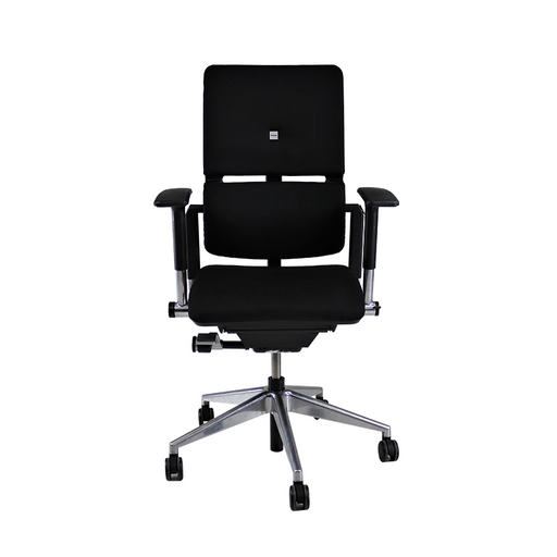 Steelcase Please V2 Aluminium Base in New Black Leather