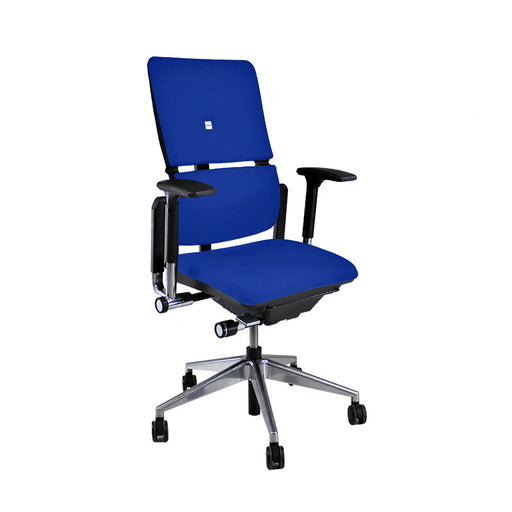 Steelcase Please V2 Aluminium Base in New Blue Fabric
