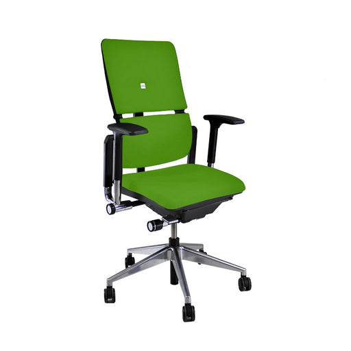 Steelcase Please V2 Aluminium Base in New Green Fabric