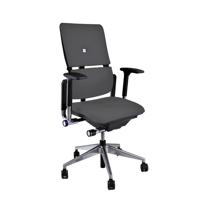 Steelcase Please V2 Aluminium Base in New Grey Fabric