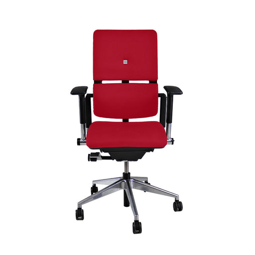 Steelcase Please V2 Aluminium Base in New Red Fabric