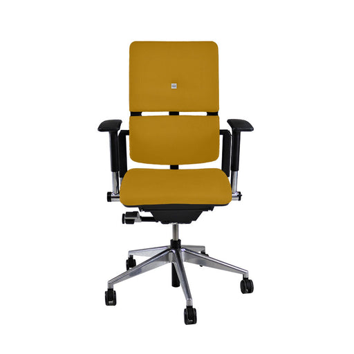 Steelcase Please V2 Aluminium Base in New Yellow Fabric