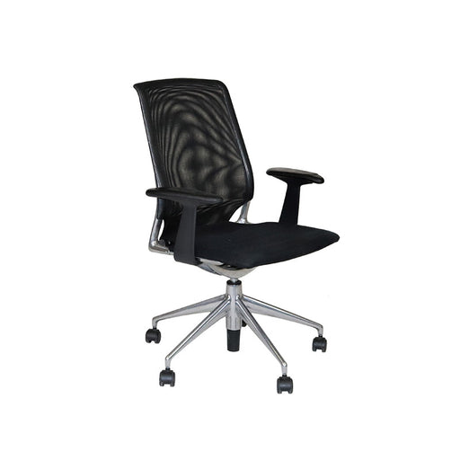 Vitra Meda with Aluminium Frame and Fabric Seat