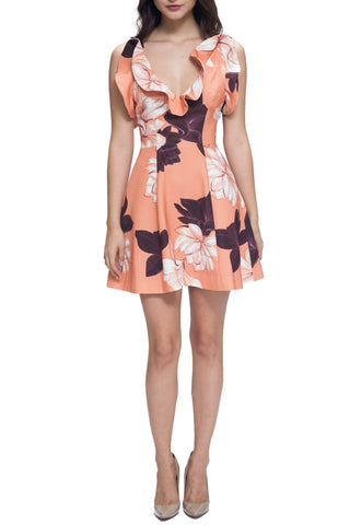 Bitter Sweet Dress - Keepsake - Shop Fourmi  - dresses - peach floral -  refraction - best - relaxed fit