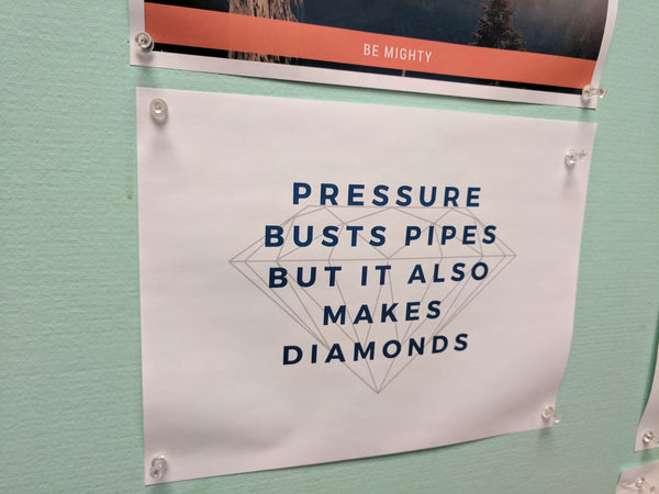 Inspiration Pressure Busts Pipes Diamonds
