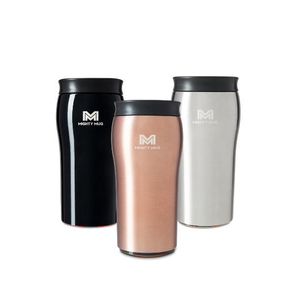 Mighty Mug Solo Silver, Black, & Rose Gold LP
