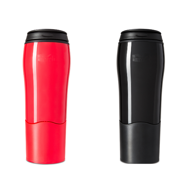 Mighty Mug Go Plastic: Red & Black - 2pk