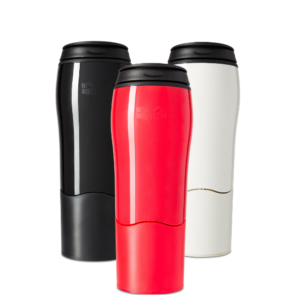 Mighty Mug Go Plastic: Red, Black, Cream 3pk