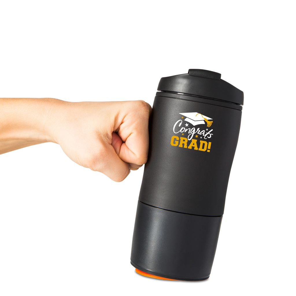 Mighty Mug Mini: Black ( Congrats Grad)