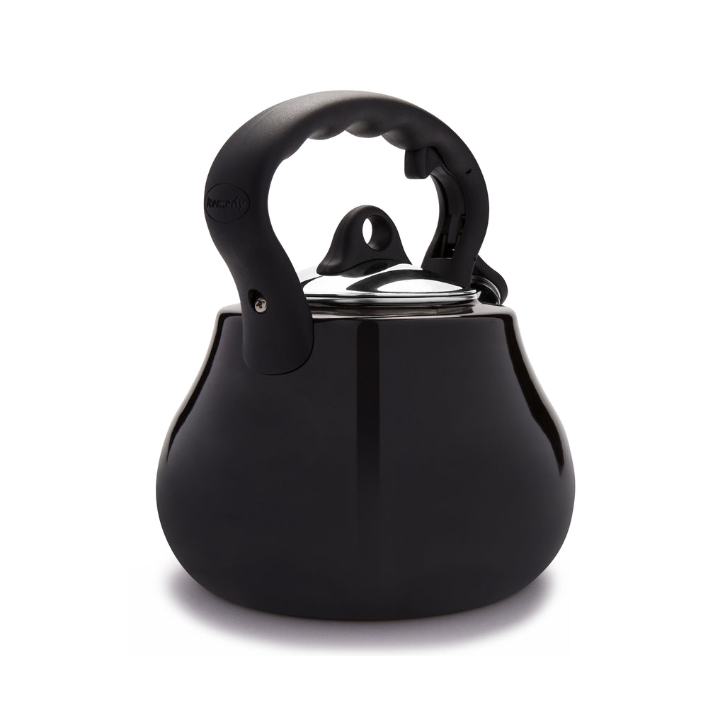 Remedy® Lovely Lady 2-Quart Porcelain Enamel Tea Kettle - Black