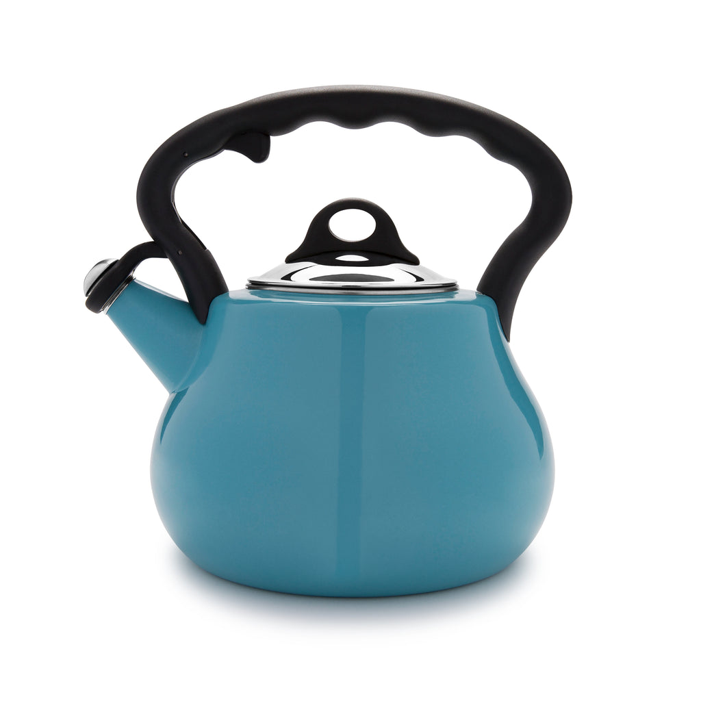 Remedy® Lovely Lady 2-Quart Porcelain Enamel Tea Kettle - Blue