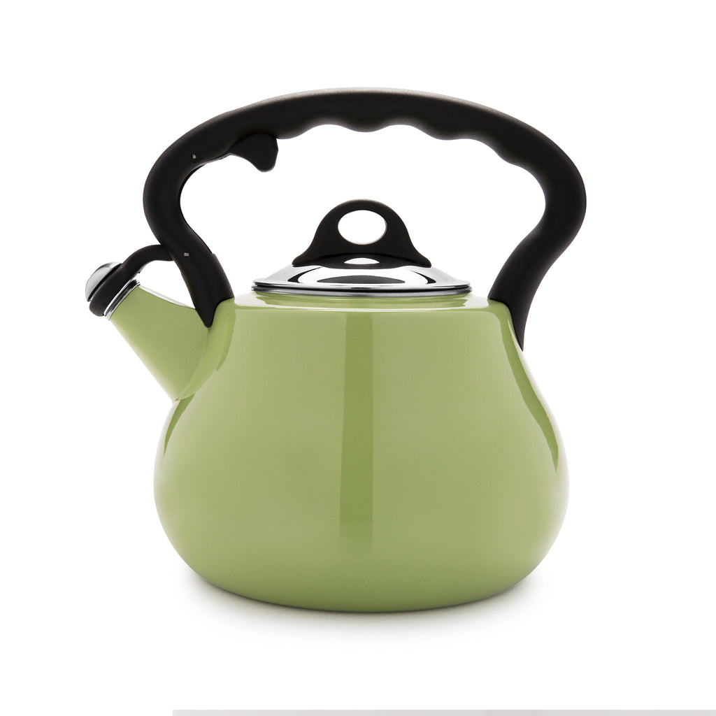 Remedy® Lovely Lady 2-Quart Porcelain Enamel Tea Kettle - Green