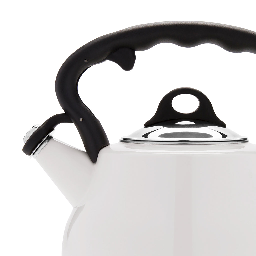 Remedy® Lovely Lady 2-Quart Porcelain Enamel Tea Kettle - Pearl