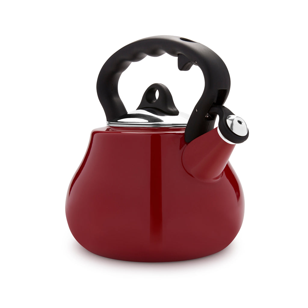 Remedy® Lovely Lady 2-Quart Porcelain Enamel Tea Kettle - Red