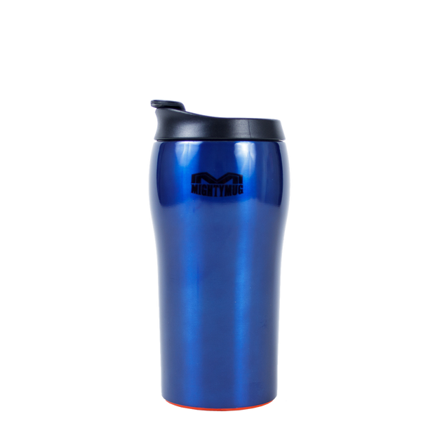 Mighty Mug Solo SS: Stainless Steel Blue