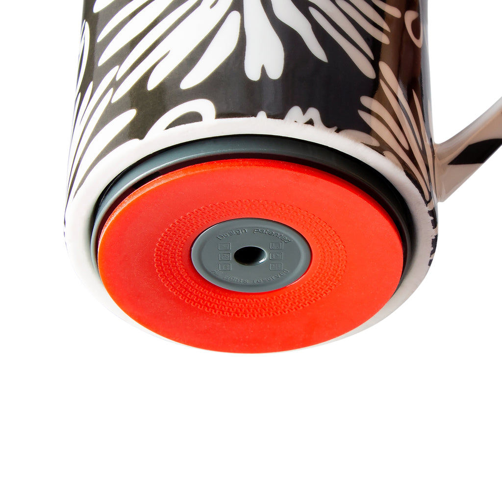 Mighty Mug Ceramic 12 oz : Black Floral