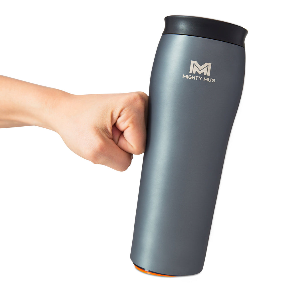 Mighty Mug Go Metallic Stainless Steel - Charcoal
