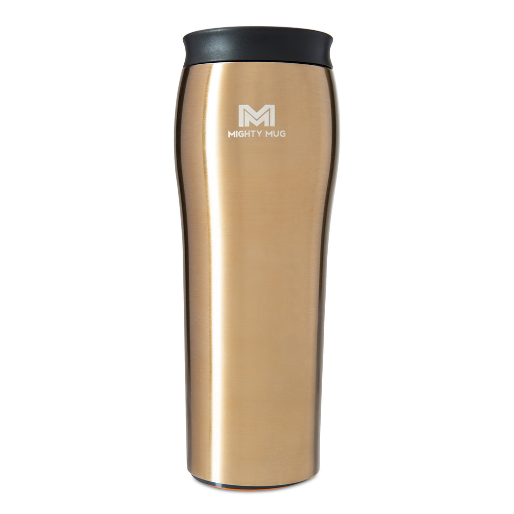 Mighty Mug Go Alloy Stainless Steel - Gold + Free Shipping