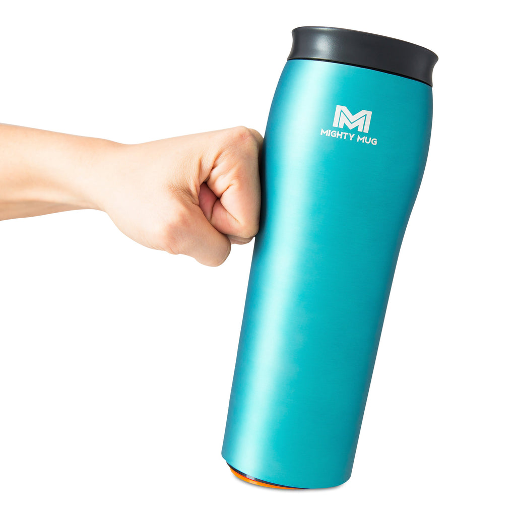 Mighty Mug Go Metallic Stainless Steel - Teal