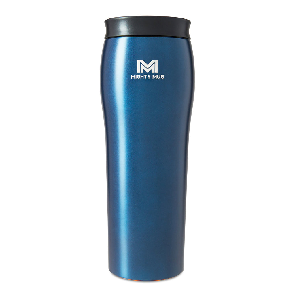 Mighty Mug Go Metallic Stainless Steel - Oceanic Blue