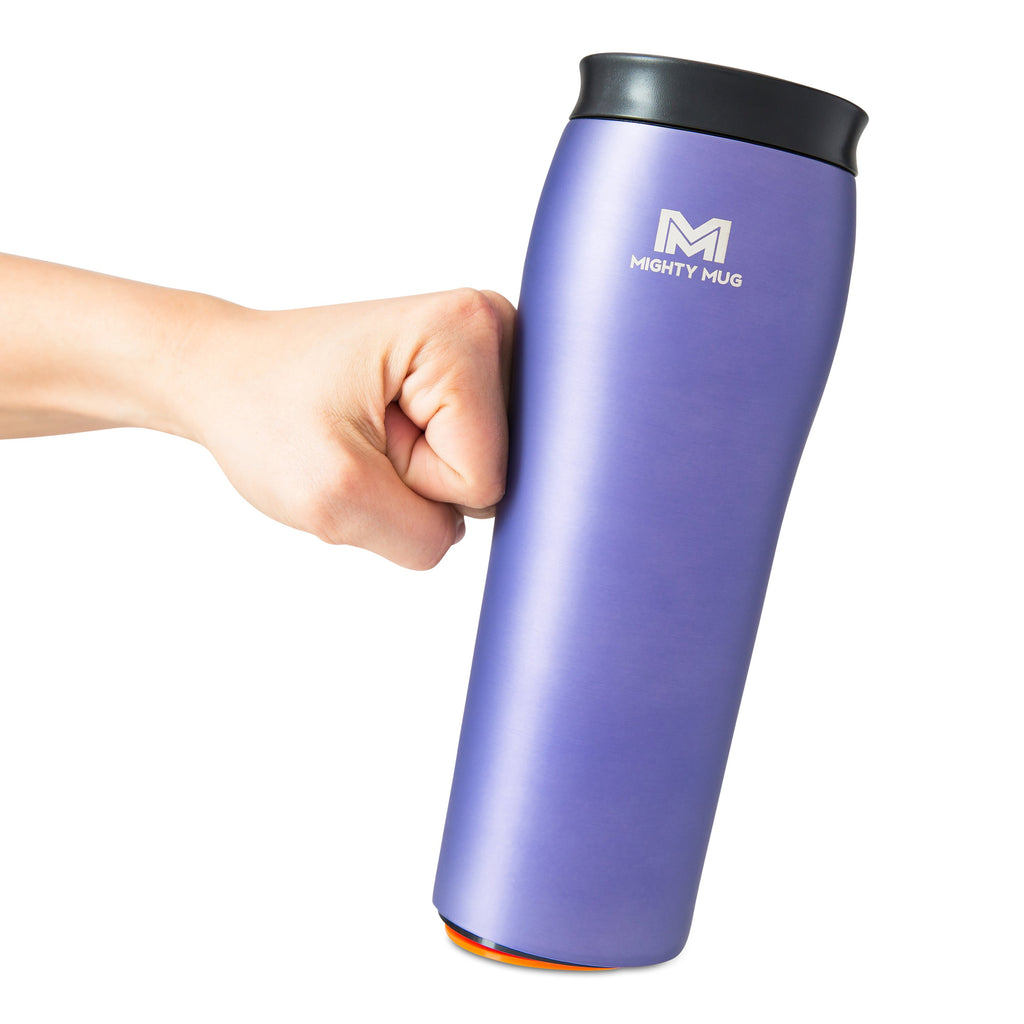 Mighty Mug Go Metallic Stainless Steel - Purple