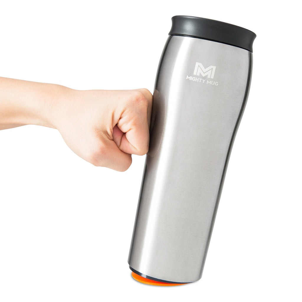 Mighty Mug Go Alloy Stainless Steel - Silver (Free Shipping)