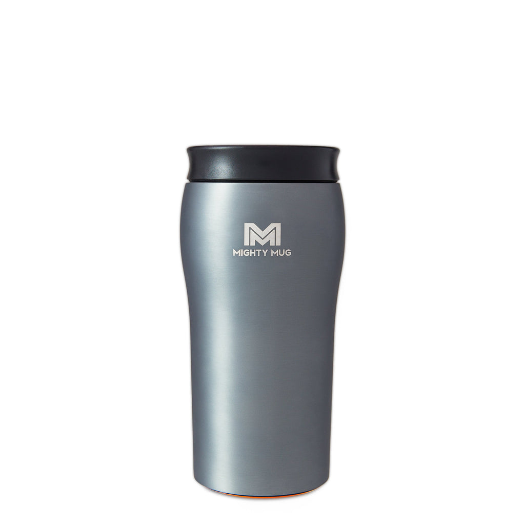Mighty Mug Solo Metallic Stainless Steel - Charcoal