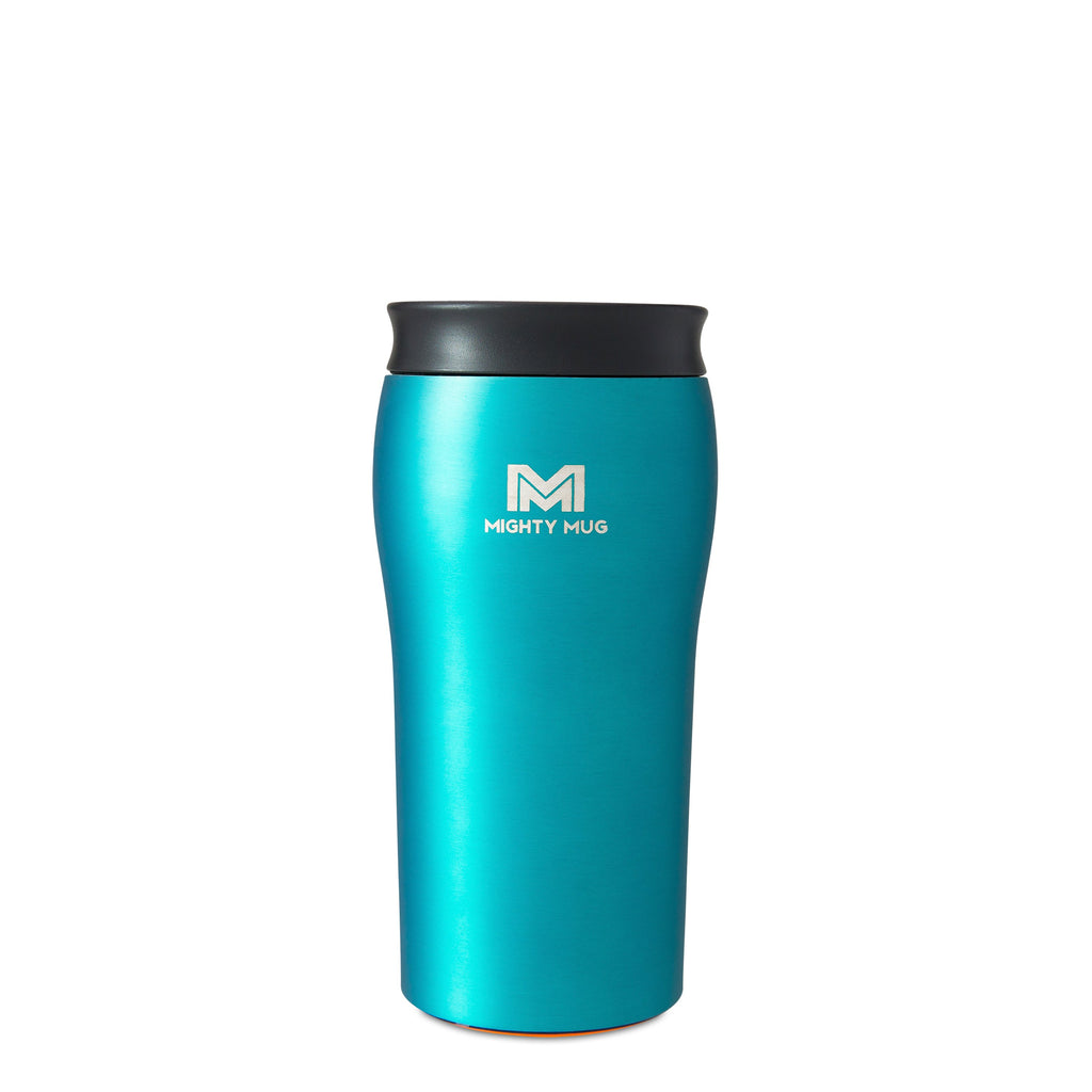 Mighty Mug Solo Metallic Stainless Steel - Teal Bundle LP