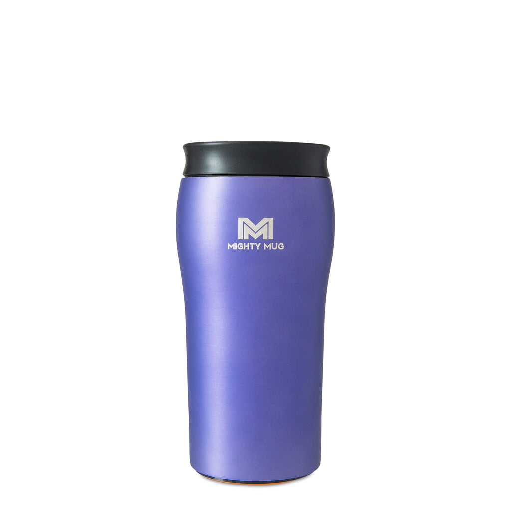 Mighty Mug Solo Metallic Stainless Steel - Purple Bundle LP
