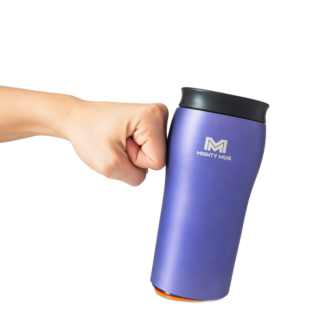 Mighty Mug Solo Metallic Stainless Steel - Purple