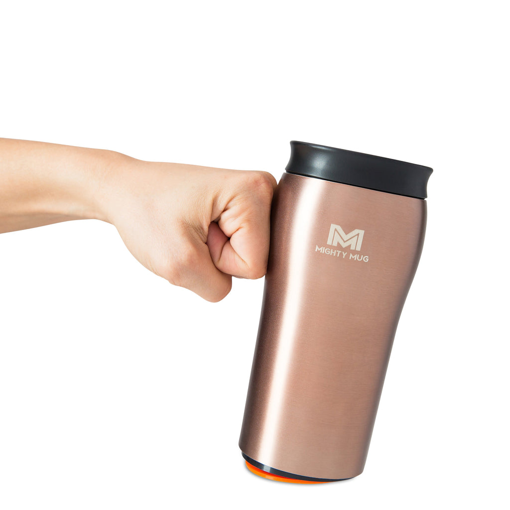 Mighty Mug Solo Alloy Stainless Steel - Rose Gold Bundle LP