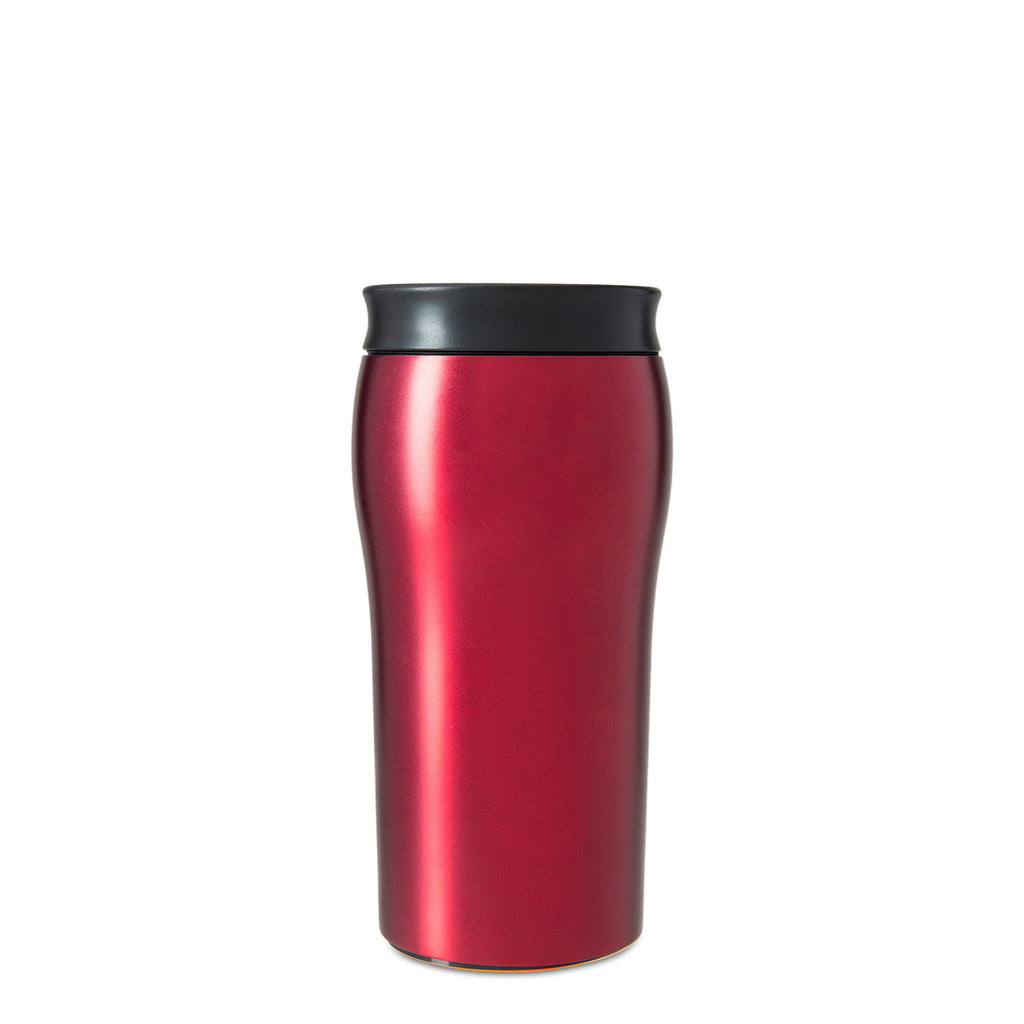 Mighty Mug Solo Metallic Stainless Steel - Rosebud Red