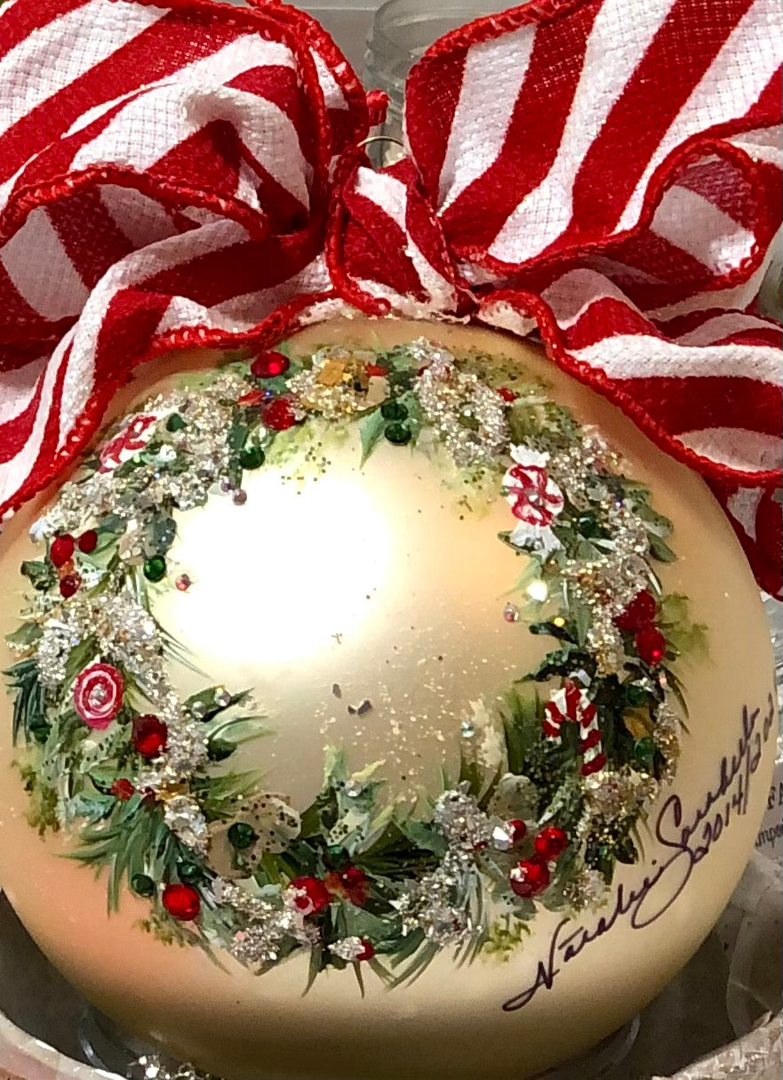 PEPPERMINT WREATH - NATALIE SARABELLA .