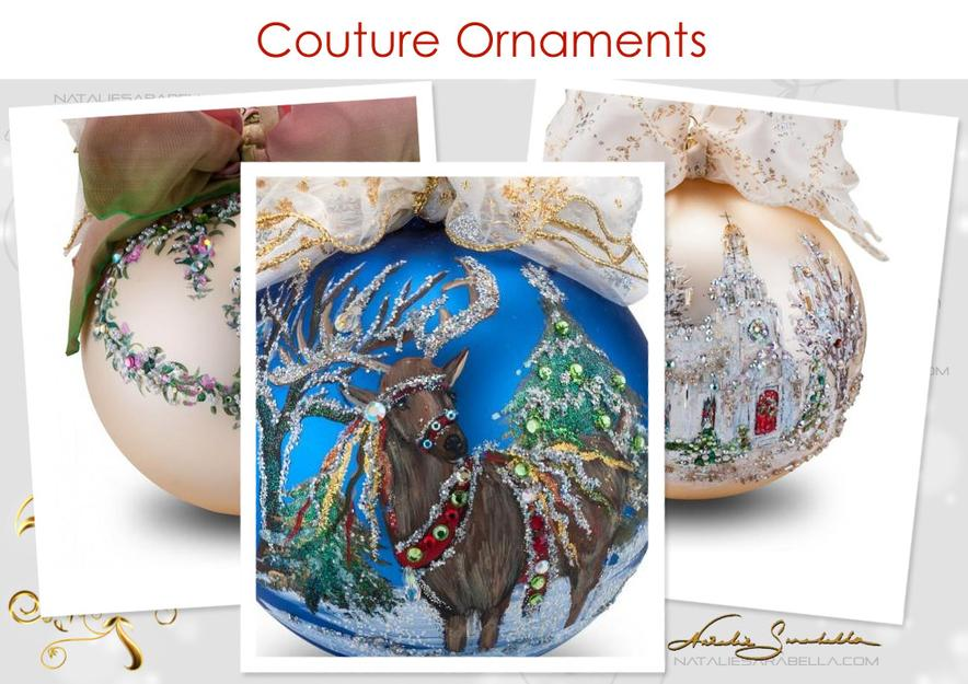 Natalie Sarabella Couture Ornaments