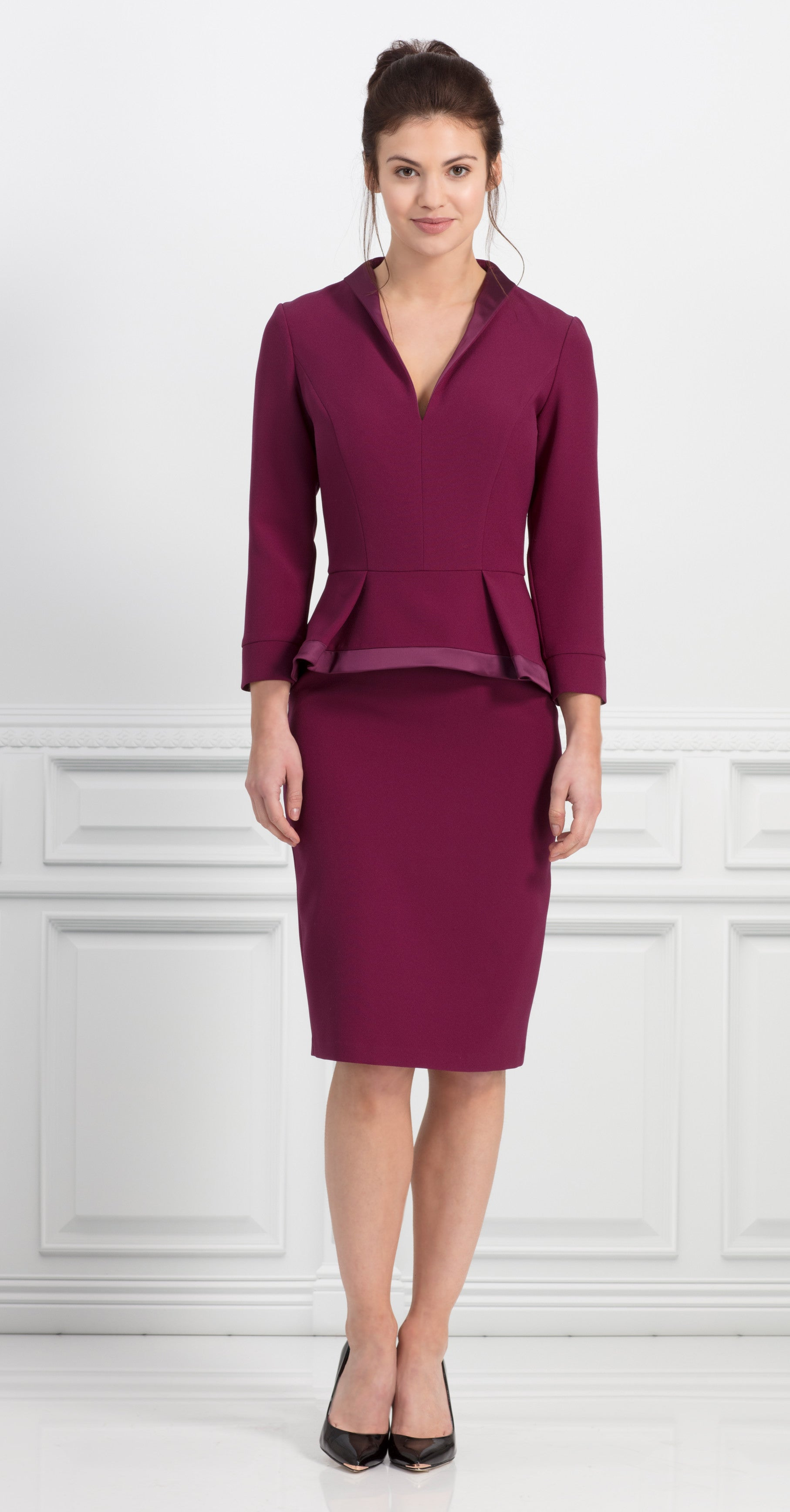 COLUMBIA DRESS PLUM