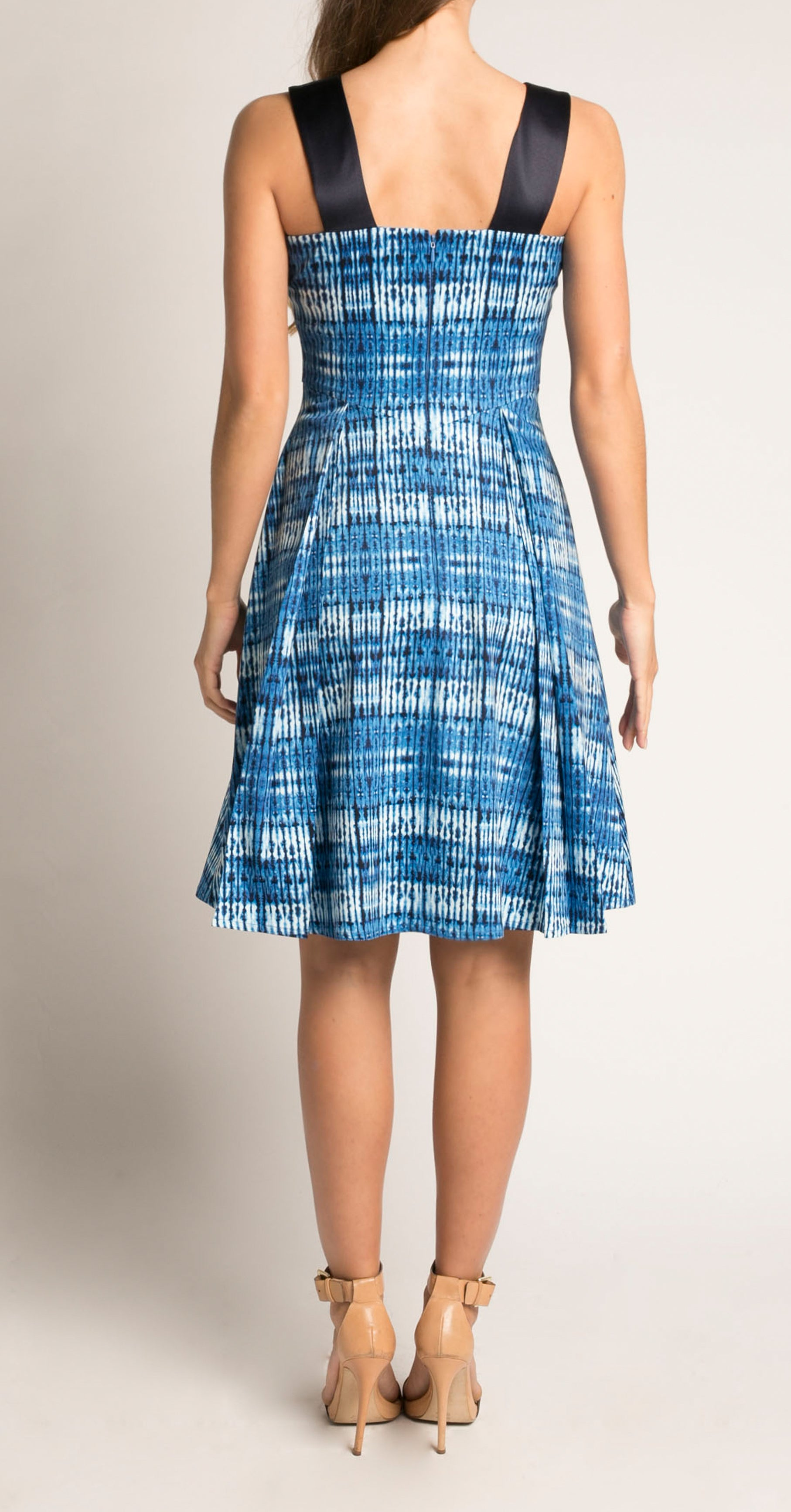 LAVAL DRESS DENIM HELIX PRINT