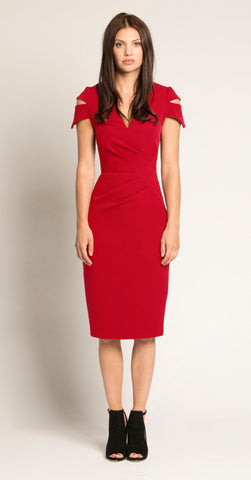 LINCOLN DRESS RED