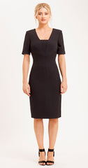 MARGATE DRESS BLACK SNAKE JACQUARD