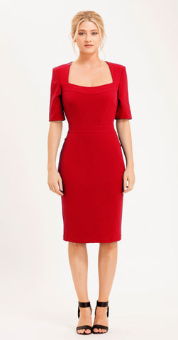 ROYSTON DRESS RED