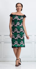 SALAMANCA DRESS GREEN/BLACK