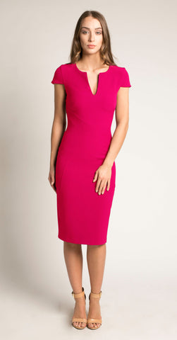 CAMBRIDGE DRESS CERISE