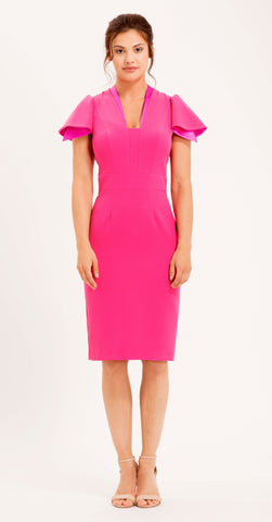 CAMDEN DRESS HOT PINK