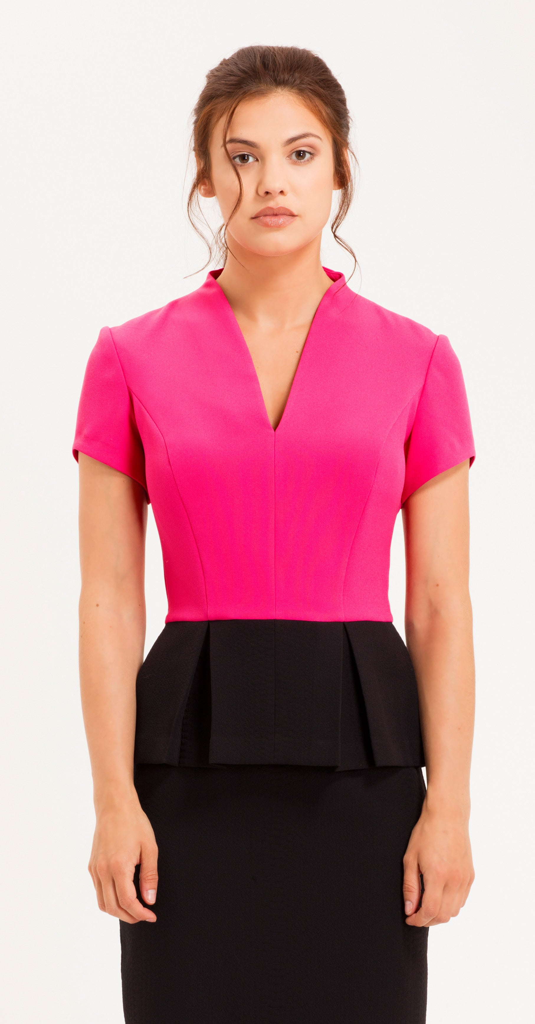 SAVONA TOP HOT PINK & BLACK