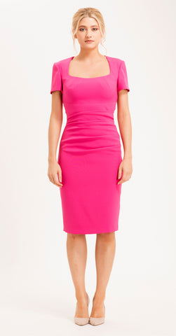 SORRENTO DRESS HOT PINK