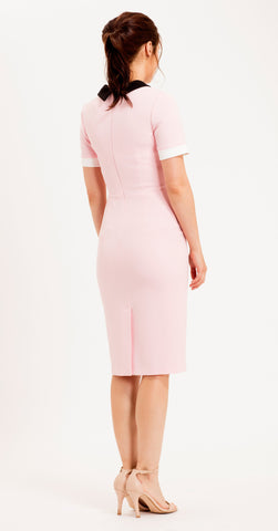 TATE DRESS PINK/BLACK/CREAM