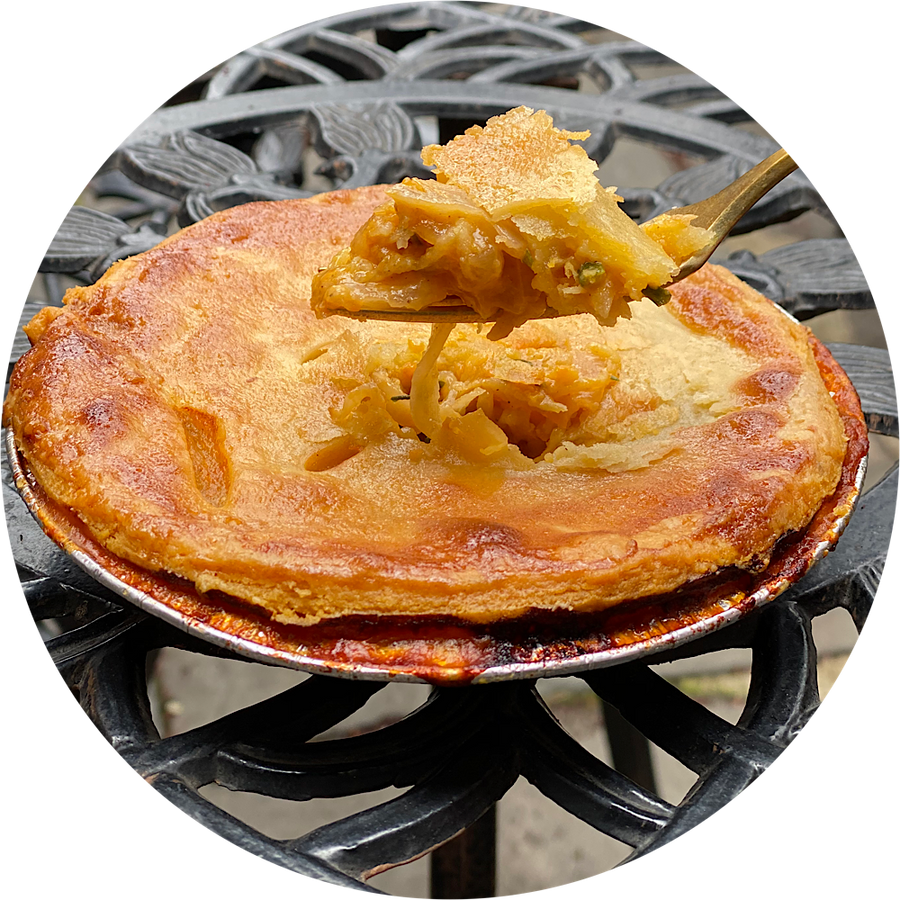 Cheese & Onion Pot Pie