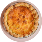 one six inch bacon and cheese quiche