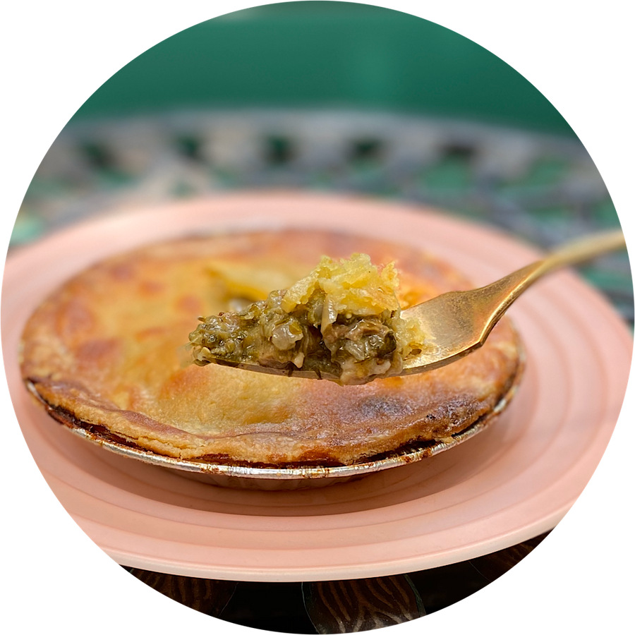 Chile Verde Pork Pot Pie