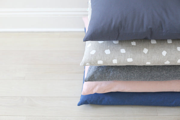 floor pillow - sea grey