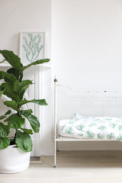 duvet set - palms